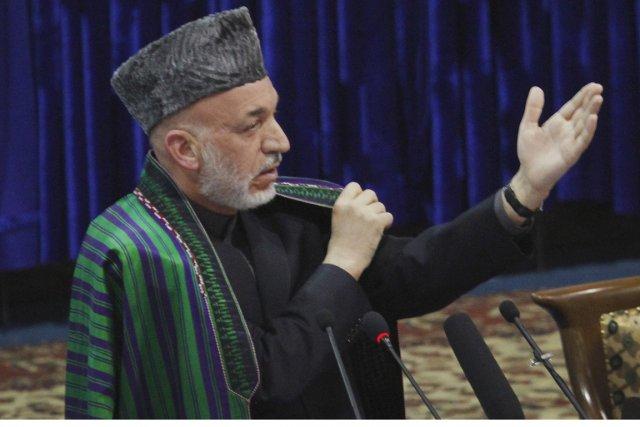 Le président afghan Hamid Karzaï a déclaré dans... (Photo: Musadeq Sadeq, AP)