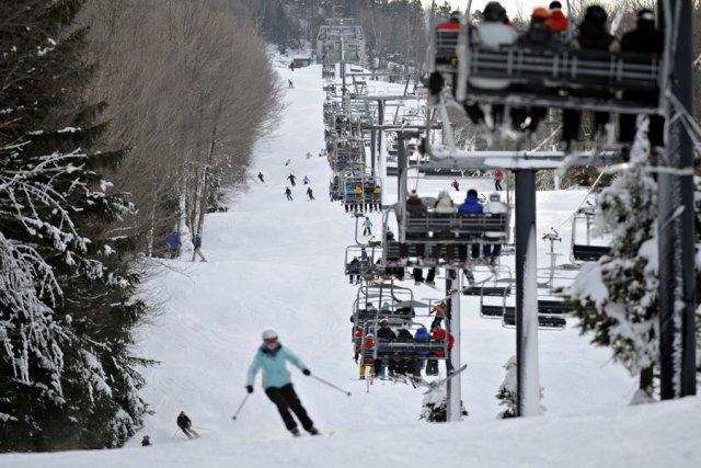 Même si Noël est derrière nous, les skieurs et les planchistes du Québec... (Photo Bernard Brault, La Presse)