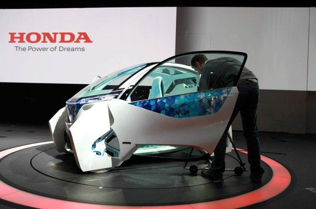 Le concept Micro Commuter de Honda. Un véhicule... (Photo Éric LeFrançois, collaboration spéciale)