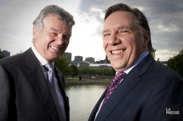 Les fondateurs de la Coalition avenir Québec Charles... (Photo: André Pichette, La Presse)