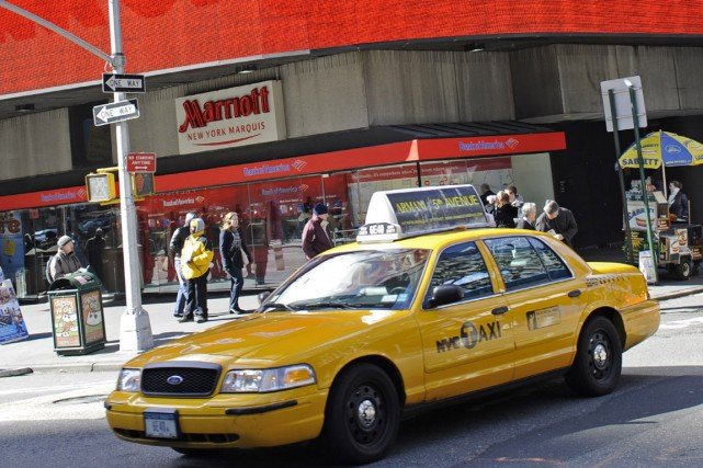 Un taxi à New York... (Photo: AFP)