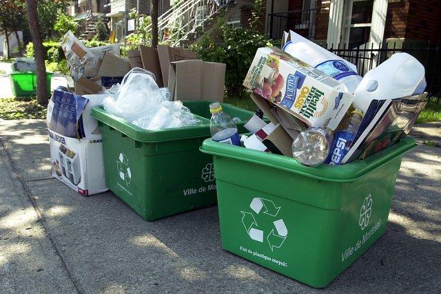 Moins du quart des matières résiduelles collectées à... (Photo: Robert Mailloux, archives La Presse)
