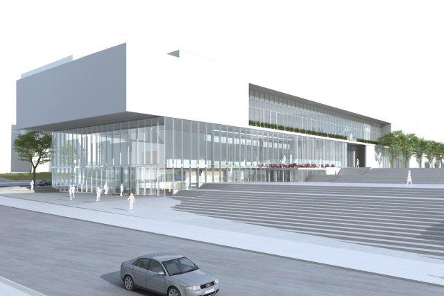 Le musée, tel que projeté, sera largement vitré.... (Photo fournie par le Musée d'art contemporain de Montréal)