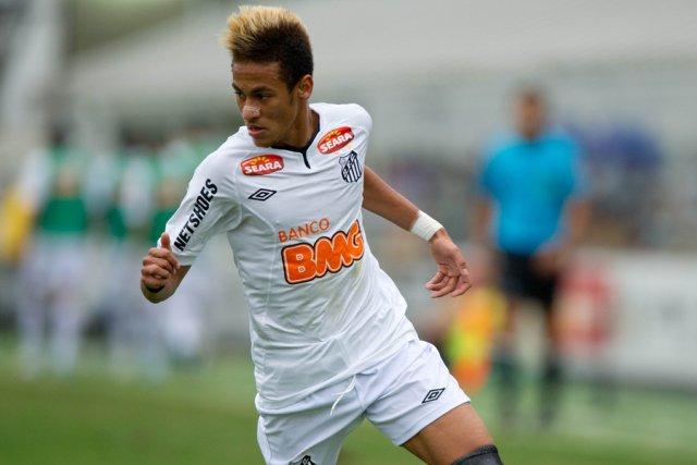 Le jeune attaquant brésilien Neymar.... (Photo: AFP)