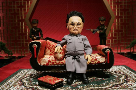 La marionnette Kim Jong-il... (Photo tirée du site web du film Team America)