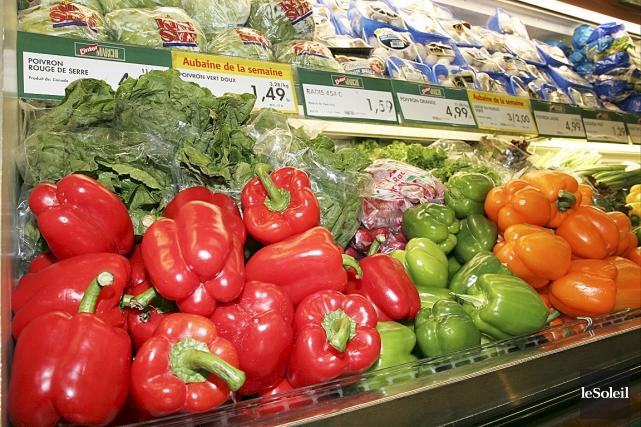 Les consommateurs de légumes frais ont déboursé 11,8... (Photothèque Le Soleil)