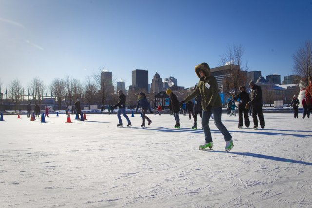 La patinoire, réfrigérée et entretenue, sera l'une des... (Photo: André Pichette, La Presse)