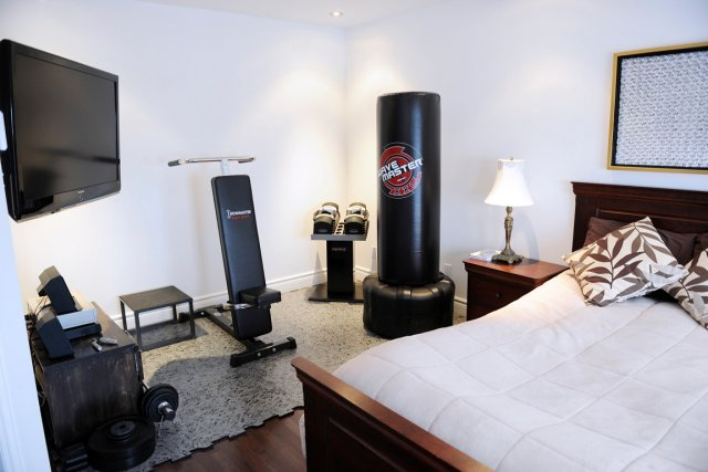 un gym la maison pour tenir ses r solutions laurie. Black Bedroom Furniture Sets. Home Design Ideas