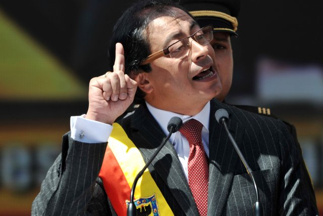 Gustavo Petro, 51 ans, économiste et ancien sénateur,... (Photo: Guillermo Legaria, AFP)