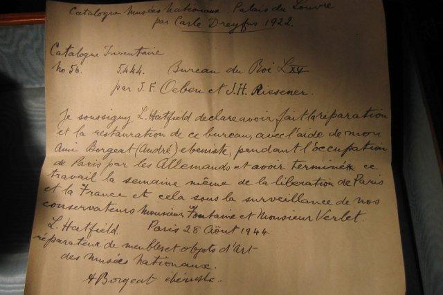 Fabuleux Une lettre de la Deuxième Guerre retrouvée à Versailles | Insolite AH15