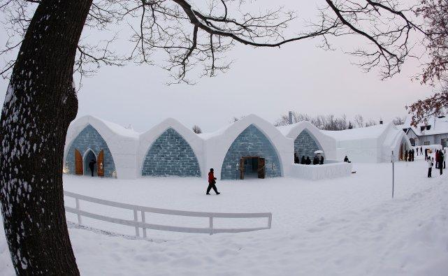 L'hôtel de glace, version 2012... (Photo Le Soleil, Yan Doubler)