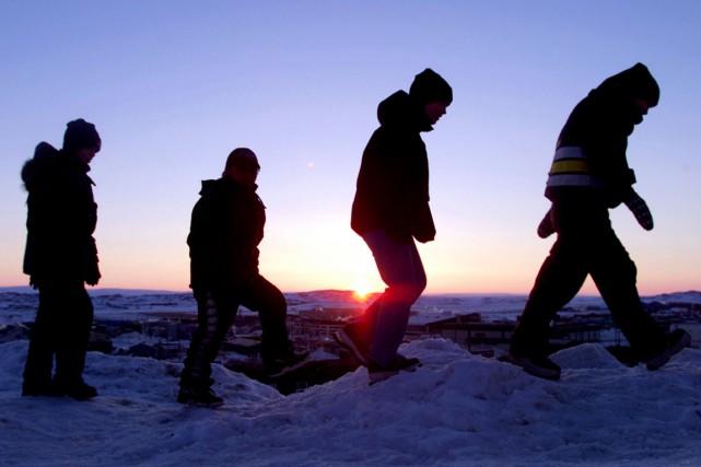Le taux de suicide au Nunavut est désormais... (Photo: Archives Reuters)