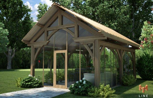 Charpente de bois pour maison cath drale mich le laferri re habitation - Faire un sauna maison ...