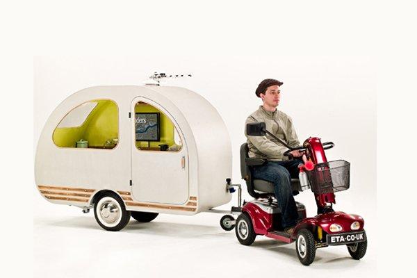 La mini-roulotte QTvan.... (Photo fournie par Environmental Transport Association)