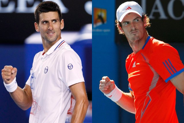 Novak Djokovic et Andy Murray... (Photos: Reuters)
