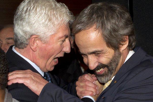 Le nouveau chef bloquiste Daniel Paillé (à droite)... (Photo: Robert Skinner, Archives La Presse)