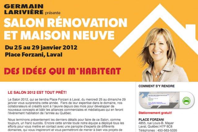 Le 11e salon r novation et maison neuve s 39 ouvre laval marie france l ger r novation - Emission americaine renovation maison ...