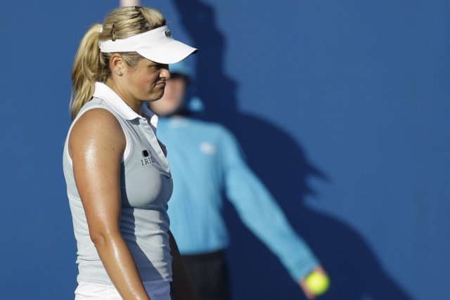Aleksandra Wozniak s'est blessée à un pied en... (Photo: archives AP)