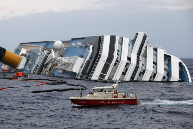 Le Costa Concordia.... (Photo Reuters)