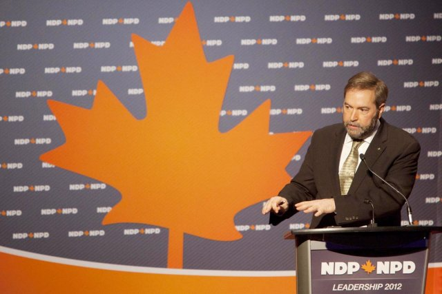 Thomas Mulcair est l'un des huit candidats à... (Photo: Tim Krochak, PC)