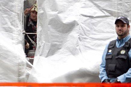 Pas moins de 27 fonctionnaires ont été mobilisés... (Photo: Marco Campanozzi, La Presse)