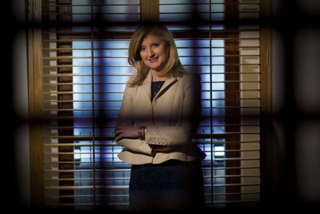 Arianna Huffington, du site internet d'information Huffington Post,... (Photo: André Pichette, La Presse)