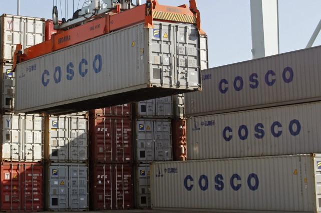 C'est une baisse de 2,8% des exportations qui... (PHOTO ARCHIVES AP)