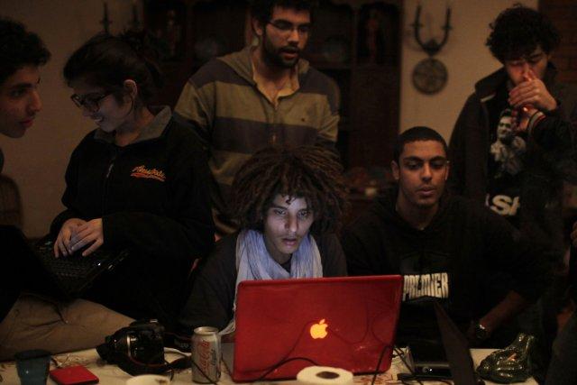 Mustafa El-Kashef, Hanin Tarek, Ziad Tarek et Amor... (Photo AFP)