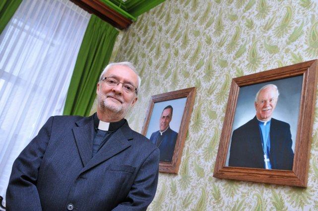 Mgr Luc Bouchard, nouvel évêque de Trois-Rivières.... (Photo: Émilie O'Connor)