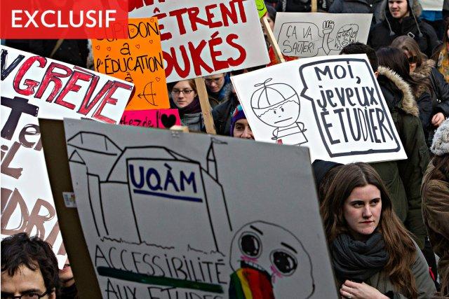 Mardi, 11 000 étudiants sont entrés en grève... (Photo: Patrick Sanfaçon, La Presse)