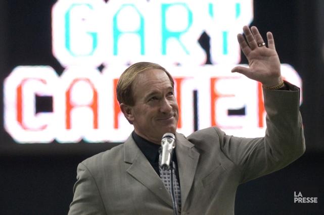 Gary Carter lors d'une cérémonie au Stade olympique... (PHOTO BERNARD BRAULT, ARCHIVES LA PRESSE)