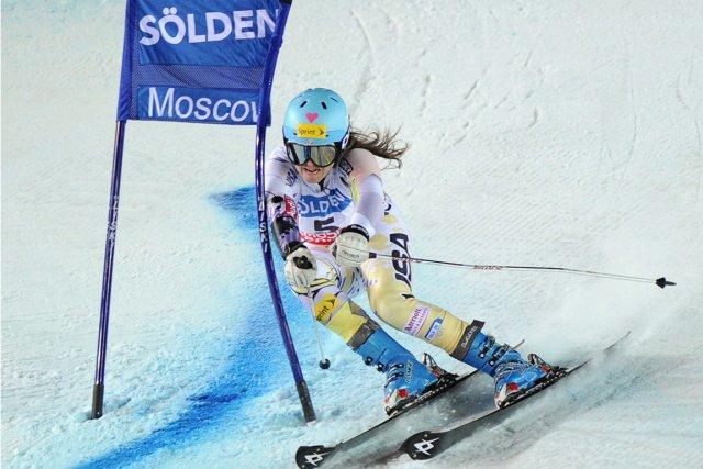 Julia Mancuso a remporté sa 7e victoire en... (Photo : Natalia Kolesnikova, AFP)
