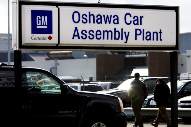 L'usine de GM d'Oshawa.... (Photo: PC)
