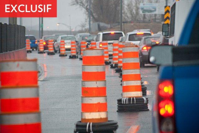 Des ponts rétrécis, des bretelles d'échangeur fermées, des rues éventrées, des... (Photo: David Boily, La Presse)