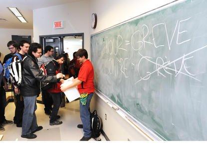 Les étudiants de la faculté de génie ont voté en faveur de la grève du 22 mars,... (Imacom, René Marquis)