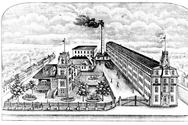 La Dominion Corset, au coin Charest et Dorchester.... (Centre d'archives de Québec, BANQ)