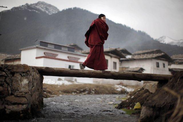 Les tentatives d'immolation augmentent chez les Tibétains qui... (Photo: Reuters)