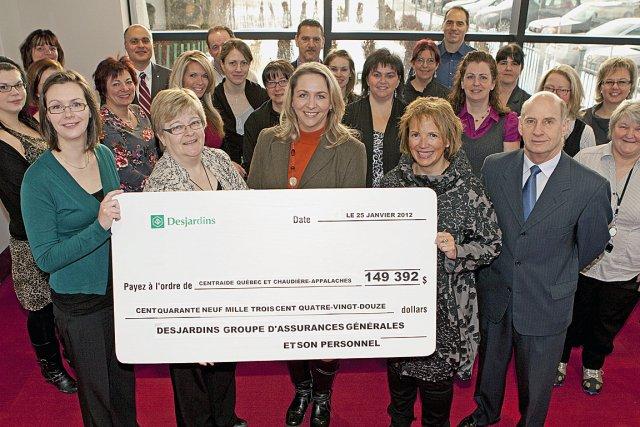 Desjardins contribue la campagne centraide pierre for Assurances maison desjardins