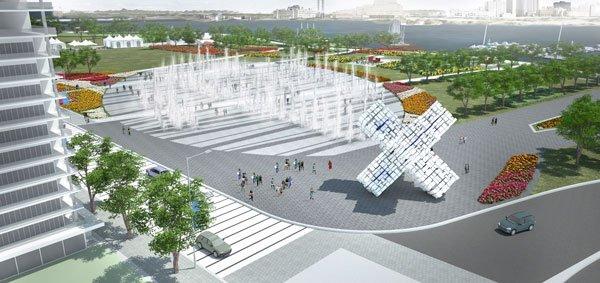 L'une des maquettes du projet touristique Destination Gatineau....