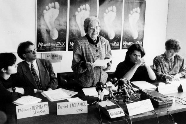 Madeleine Parent en 1990.... (Photo archives La Presse)