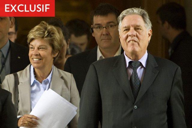 Louise Beaudoin et Pierre Curzi, le jour de... (Photo: PC)