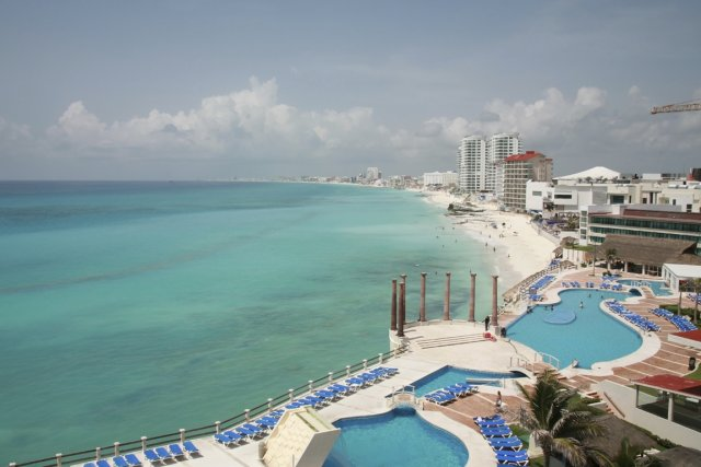 Une plage de Cancún... (Photo Photos.com)