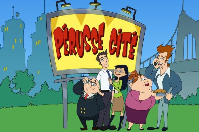 Les personnages de Pérusse Cité... (Photo fournie par Radio-Canada)