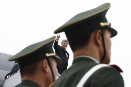 Stephen Harper a visité la Chine en février.... (Photo: Reuters)