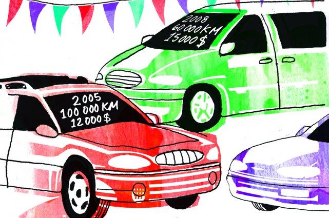 Voici la règle numéro un pour acheter une voiture usagée. C'est aussi la règle... (Illustration Francis Léveillée, La Presse)