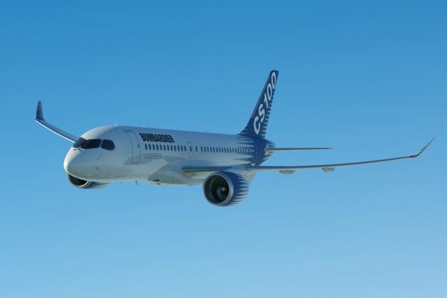 Un CSeries de Bombardier.... (Photo fournie par Bombardier)