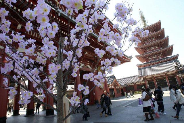 Temple dans le centre-ville de Tokyo.... (Photo Lee Jin-man, AP)