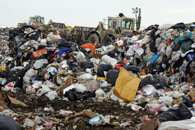 Sur la photo, le site d'enfouissement de déchets... (Photo: Robert Mailloux, archives La Presse)