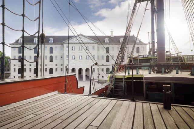Le musée de la marine d'Amsterdam était fermé... (Photo AFP/Musée de la marine)
