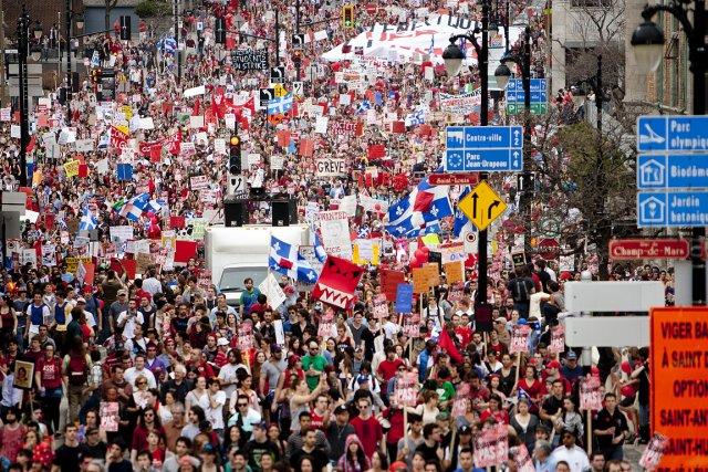 Entre 100 000 et 200 000 étudiants ont... (Photo: Marco Campanozzi, La Presse)